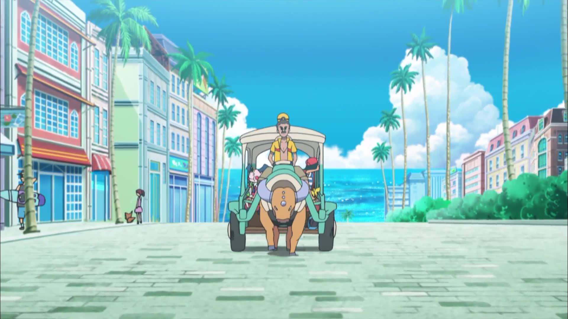1화 알로라! 첫 번째 섬, 처음 만나는 포켓몬들!!